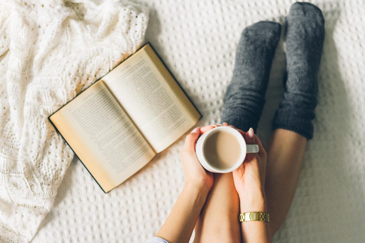 Inviter på en kopp te i sengen